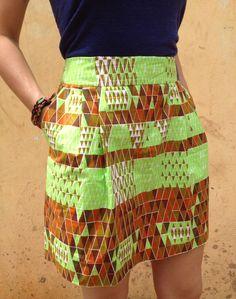 AFIA // Staple Skirt   Neon:Neutral   Sustainably created in Ghana