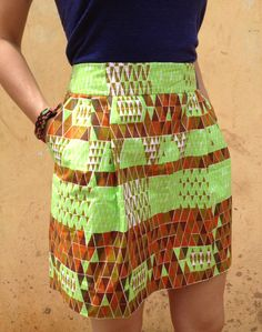 AFIA // Staple Skirt | Neon:Neutral   Sustainably created in Ghana