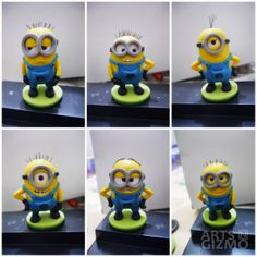 Minions made with polymer clay