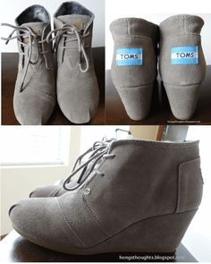 TOMS Wedges- ridiculous amounts of comfort all day- I WANT!!