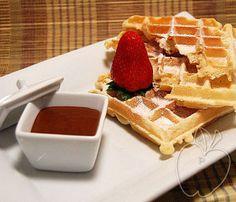 Gofres con Masa Madre Sourdough waffles Gaufres au levain