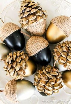 diy fall acorns, crafts, diy, home decor, repurposing upcycling, seasonal holiday decor