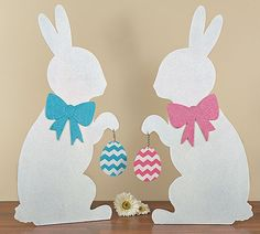 """The Jolly Christmas Shop - Standing Easter Bunny Wooden Silhouette Decoration 31"""", $49.00 (http://www.thejollychristmasshop.com/standing-easter-bunny-wooden-silhouette-decoration-31/)"""
