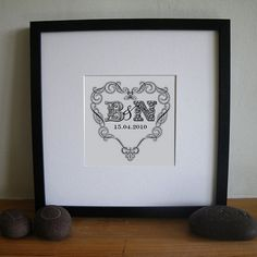 Letterfest Personalised Heart Print http://letterfest.com/art-prints/Personalised-vintage-heart-art-print From £20.00