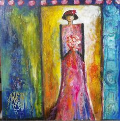 Stand by me. Acrylic on canvas. Visit www.aishakhanart.com