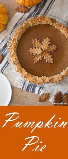 Pumpkin Pie via @preppykitchen