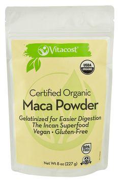 Vitacost Certified Organic Gelatinized Maca Powder - Gluten Free