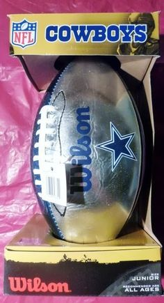 Dallas Cowboys Wilson NFL Team Logo Junior Football New in Package!