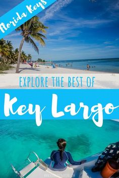 Explore the best of Key Largo Florida - In Key Largo, watersport activities like fishing, kayaking and swimming with the dolphins are plentiful. Or, just relax with a tropical beverage on a beach. Beach Vacation Tips, Best Island Vacation, Florida Vacation, Florida Travel, Florida Beaches, Beach Trip, Vacation Spots, Travel Usa, Destin Florida