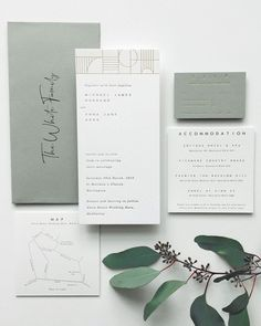 Rustic and green wedding invites wedding stationery graphic design inspiration elegant and modern stylish wedding invitation suite the loveliest watercolor wedding invitations Minimalist Wedding Invitations, Green Wedding Invitations, Rustic Invitations, Wedding Invitation Design, Wedding Branding, Invitation Kits, Invitation Wording, Modern Wedding Stationery, Event Invitations