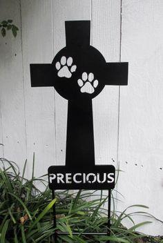 Pet Memorial Cross Garden Stake Dog Metal Yard Art Rusty Design 1 On Etsy 49 99 Rip My Sweet Maddy
