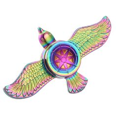 Rainbow color Fly Eagle Fidget Spinner Metal Finger Spinner Hand Spinner For Autism Spinners Adult Anti Relieve Stress Toy
