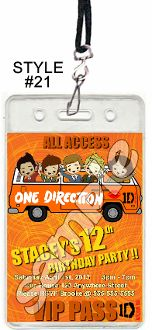 ONE DIRECTION VIP PASSES WITH LANYARDS