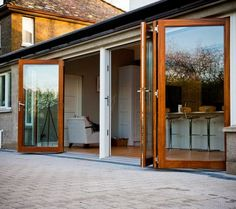 If you want to make a statement with your patio doors, here is a little design inspiration for you. With so many options out there, there is no need for you to French Doors Patio, Patio Doors, French Patio, Contemporary Windows And Doors, Decoration Inspiration, Room Inspiration, Design Inspiration, Door Design, House Design