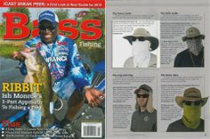 Coolibar in June-July issue of Bass Fishing Magazine