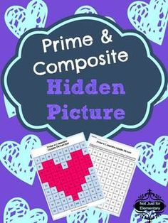 Prime and Composite Number Hidden Heart Picture: Perfect Valentine Day Lesson or Activity