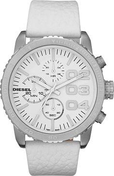 Diesel Franchise -42 Chrono White DZ5330, Diesel horloge Voor dames. Officiële Diesel dealer, met Garantie