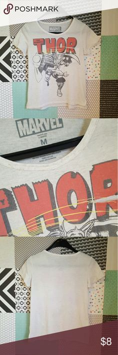e2c4abce3 Marvel Comic Thor Shirt with Pocket Marvel brand, Thor, shirt is cream  color,