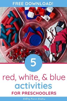 Are you looking for patriotic learning activities for your kids? These red, white, and blue activities are perfect for toddlers and preschoolers! Preschool At Home, Preschool Themes, Toddler Preschool, Toddler Crafts, Learning Activities, Preschool Activities, Preschool Education, Uno Cards, Toddler Themes