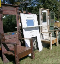 Furniture Made From Old Doors | vintage doors | Buildingblocksintupelo's Blog