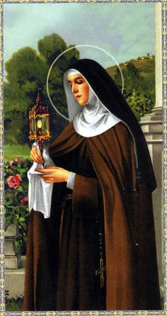Saint Clare of Assisi Catholic Art, Catholic Saints, Religious Art, Francis Of Assisi, St Francis, Clare Of Assisi, Sainte Claire, St Clare's, Religious Pictures