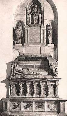 Monumento funebre al Cardinale  Braye ( post 1282 ), Arnolfo di Cambio per la Chiesa di San Domenico a Orvieto.