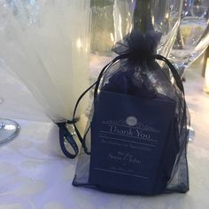 And so the adventure begins..... Blue Wedding Guest Favour Package: Hand Made Goat Milk Soaps beautifully presented in tissue filled Organza Bags with personalised Thank You cards and Labels.
