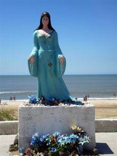 """Yemaya Assessu, Assessu Yemaya; Yemaya Olodo, Olodo Yemaya.""  (Traditional chant honoring Her as the river flowing into the ocean,  Photo at Santa Vitoria do Palmar, by F. Bras.)"