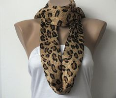 Pashmina Scarf  Leopard Print Scarf  Caramel and by cocoshwoman, $20.00