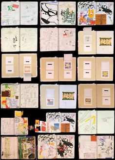 Pages from Transformation Sketchbook, 2006-2007.  Spiral-bound sketchbook.  9 x 12 inches. [Included in the Secrets & Lies Annual Juried Artist Book Exhibition, at 23 Sandy Gallery in Portland, Oregon.