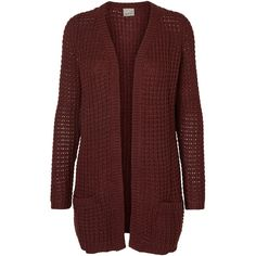 LONG SLEEVED KNITTED CARDIGAN ($57) ❤ liked on Polyvore featuring tops, cardigans, ribbed top, cut loose tops, long sleeve tops, loose tops and loose cardigan