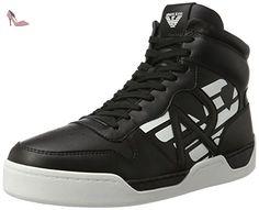 Armani Jeans  Sneaker High Cut, Chaussons montants homme - noir - Schwarz (Nero), - Chaussures emporio armani (*Partner-Link)