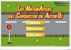 """""""Las Matemáticas del Conductor de Autobús"""", de novelgames.com, es un sencillo juego de cálculo mental, aunque hay que tener cuidado porque cada fallo cuesta una vida y sólo tienes tres."""