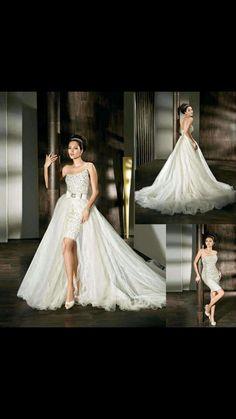 Two piece wedding dress,  beautiful!
