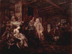 The Wedding Banquet by @artisthogarth #baroque