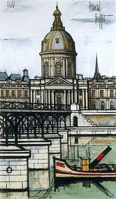 Bernard Buffet - Institute of France, 1988