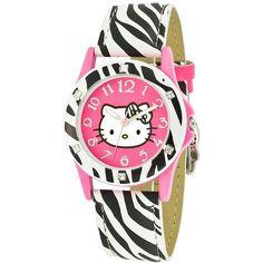 Hello Kitty® Zebra Print Strap Watch - JCPenney