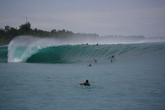 This epic wave is mechanical and beautiful every day! #Macaronis #Wave Book now for the surf trip of your life! http://www.macaronisresort.com
