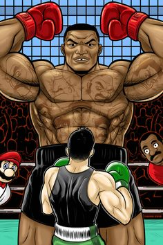 Mike Tyson Punch Out Commission by Thuddleston on DeviantArt Retro Video Games, Video Game Art, Retro Games, Retro Toys, Punch Out Game, Mike Tyson Mysteries, Punch Out Nintendo, Little Mac, Nintendo Characters