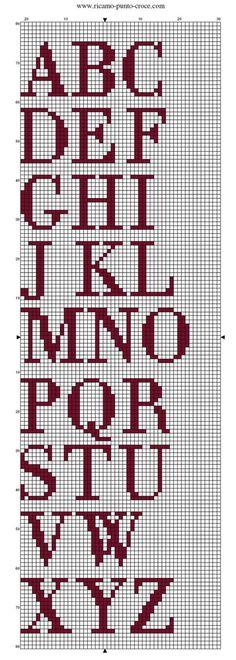 """alphabet - point de croix - cross stitch - Blog : <a href=""""http://broderiemimie44.canalblog.com/"""" rel=""""nofollow"""" target=""""_blank"""">broderiemimie44.c...</a>"""