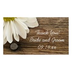 Barn Wedding Thank You White Daisy Barn Wood Country Wedding Favor Tags Business Card
