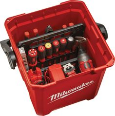 Milwaukee 13-inch Work Box Loaded with Dividers
