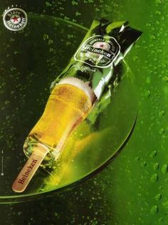 Heineken print advertisement. I love how it's so simple and deliciously creative as an ad. Wonderful art direction as well. Advertising Poster, Clever Advertising, Advertising Design, Advertising Campaign, Beer Advertisement, Heineken, Street Marketing, Guerilla Marketing, Design Spartan
