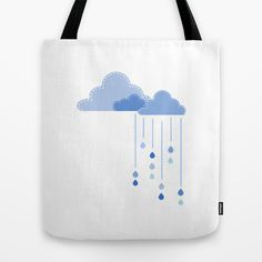 Clouds tote bag on #society6