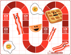 Free! Breakfast Bacon Game Board and cards for any skill