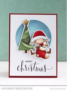 Santa's Elves, Hand Lettered Holiday, Santa's Elves Die-namics - Karin Åkesdotter   #mftstamps