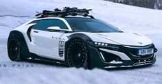 Honda NSX Shooting Brake Ready To Tackle The Ski Slopes #Acura #Acura_NSX