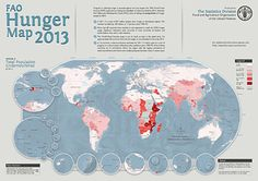 Hunger map 2013 FAO
