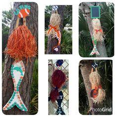 Custom Order: Football Mermaid Home Decor, Beach House Decor Mermaid Home Decor, Mermaid Wall Art, Mermaid Crafts, Mermaid Beach, Beach House Decor, Purple Beach, Green Beach, Shell Crafts, Beach Themes