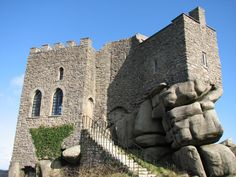 Carn Brea castle,  Redruth, Cornwall, England; originally built in 1379. Photo by  Mike Rogers